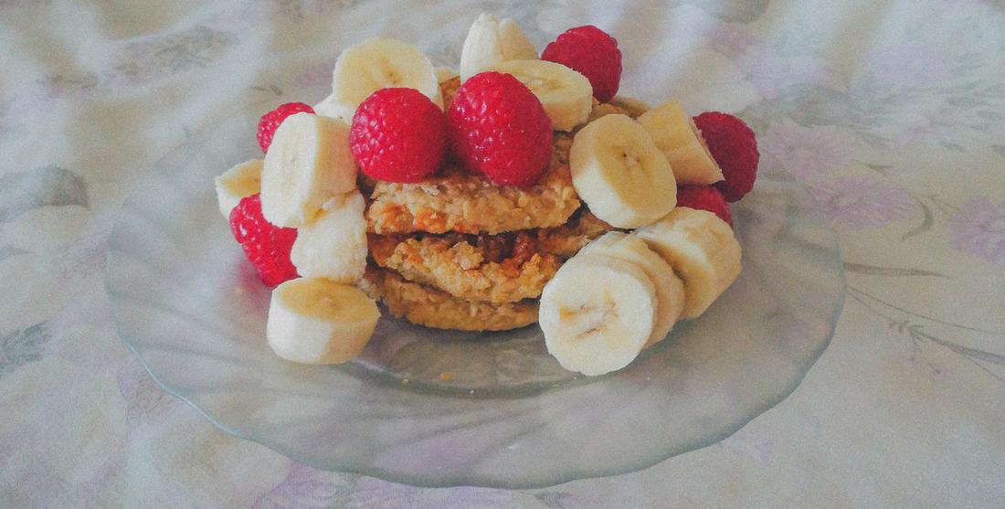 Panquecas de aveia e banana veganas