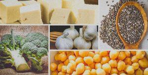 Principais fontes de cálcio em alimentos vegetais