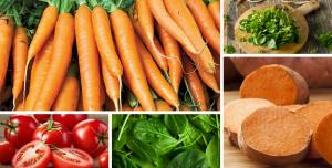 Alimentos vegetais ricos em vitamina A