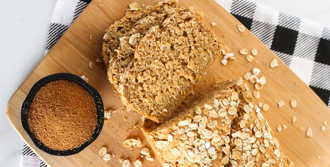 pão de aveia vegan