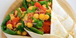 Tacos vegan de grão-de-bico
